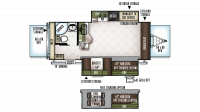 2019 Flagstaff Shamrock 23FL Floor Plan
