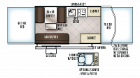 2019 Flagstaff Sports Enthusiast 228BHSE Floor Plan
