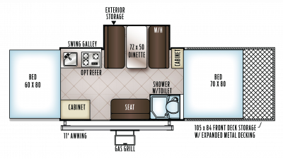 2018 Flagstaff Sports Enthusiast 28TSCSE Floor Plan