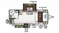 2018 Flagstaff Super Lite 23FBDS Floor Plan