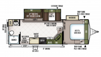 2019 Flagstaff Super Lite 26RBWS Floor Plan