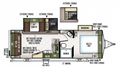 2018 Flagstaff Super Lite 26RSWS Floor Plan