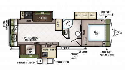 2018 Flagstaff Super Lite 27RKWS Floor Plan