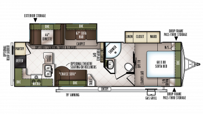 2018 Flagstaff Super Lite 29RKWS Floor Plan