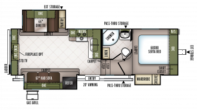 2018 Flagstaff Super Lite 526RLWS Floor Plan
