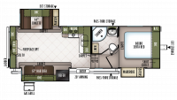 2019 Flagstaff Super Lite 526RLWS Floor Plan