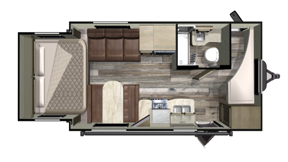 2019 Mossy Oak Lite 20BHS Floor Plan Img