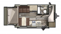 2019 Mossy Oak Lite 20BHS Floor Plan