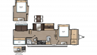 2020 Catalina Legacy Edition 343BHTS Floor Plan