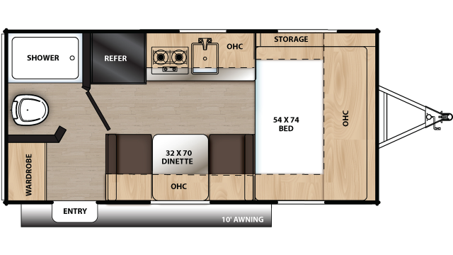 2020 Catalina Summit 162FB Floor Plan