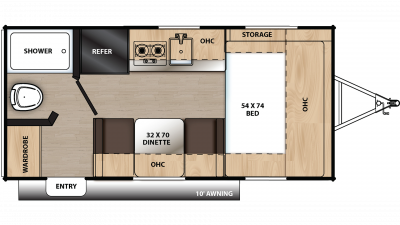 2020 Catalina Summit 162FB Floor Plan Img