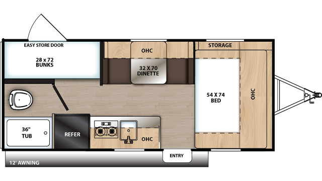 2020 Catalina Summit 172BH Floor Plan