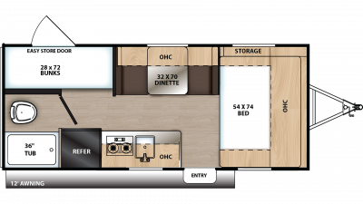 2020 Catalina Summit 172BH Floor Plan Img