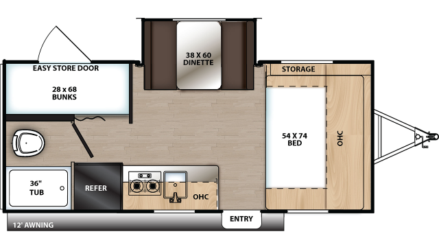 2020 Catalina Summit 172BHS Floor Plan