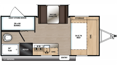2020 Catalina Summit 172BHS Floor Plan Img