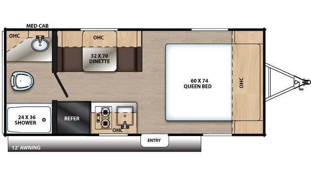 2020 Catalina Summit 172FQ Floor Plan