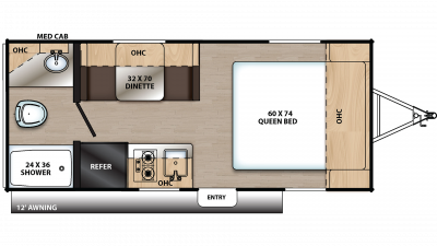 2020 Catalina Summit 172FQ Floor Plan Img