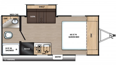 2020 Catalina Summit 172FSS Floor Plan Img