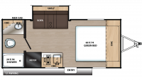 2020 Catalina Summit 172FSS Floor Plan