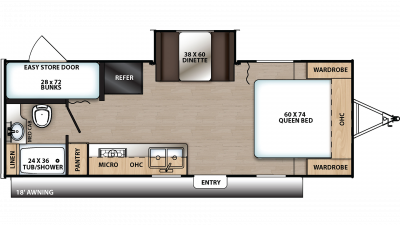 2020 Catalina Summit 212BHS Floor Plan Img