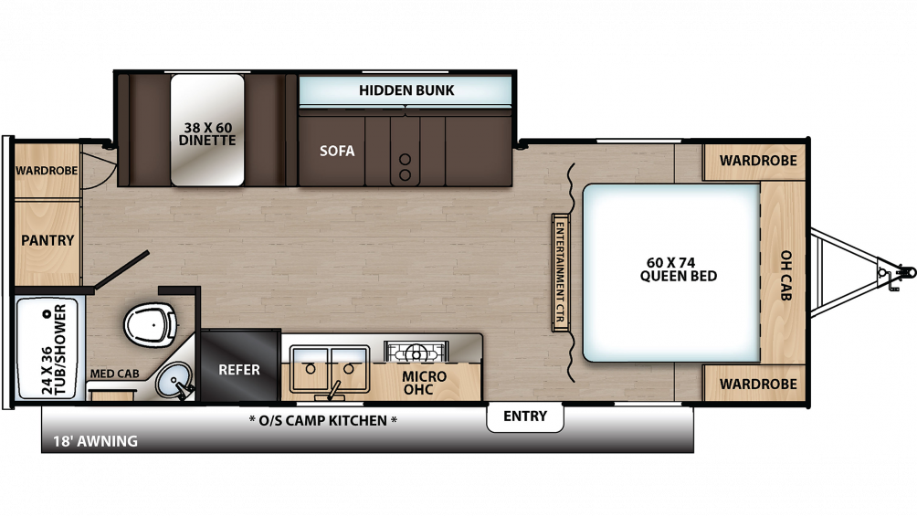 2020 Catalina Summit 212RBS Floor Plan Img