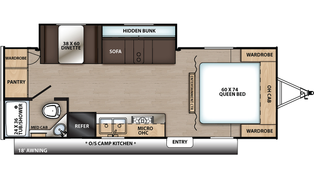 2020 Catalina Summit 212RBS Floor Plan