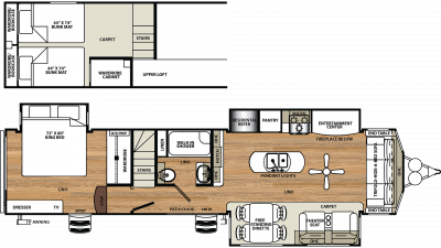 2020 Sierra Destination 399LOFT Floor Plan Img