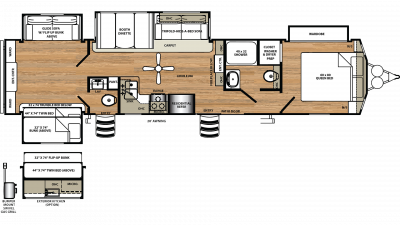2020 Sierra Destination 404QBWD Floor Plan Img
