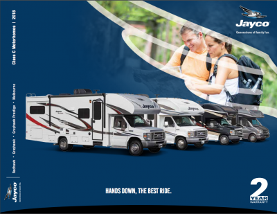 2018 Jayco Melbourne RV Brochure Cover