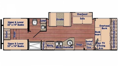 Conquest 6315BH Floor Plan - 2020