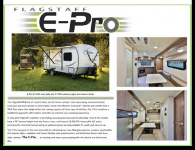 2017 Forest River Flagstaff E-Pro RV Brand Brochure Cover