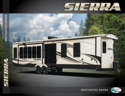 2016 Forest River Sierra Destination RV Brand Brochure Cover