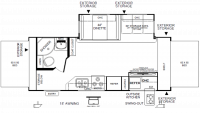 2019 Flagstaff Shamrock 235S Floor Plan
