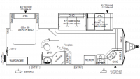 2019 Flagstaff Super Lite 26FKBS Floor Plan