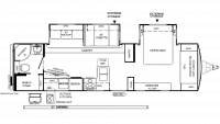 2019 Flagstaff Super Lite 29RBS Floor Plan