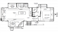 2019 Flagstaff Super Lite 528IKWS Floor Plan
