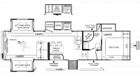 2019 Flagstaff Super Lite 529RLKS Floor Plan