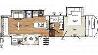 2019 Sierra 345RLOK Floor Plan