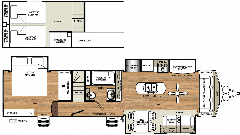 2019 Sierra Destination 399LOFT Floor Plan Img