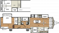 2019 Sierra Destination 399LOFT Floor Plan
