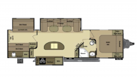 2014 Open Range 308BHS Floor Plan