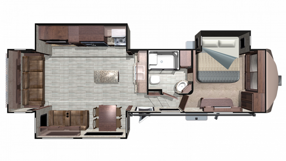 2019 Mesa Ridge MF348RLS Floor Plan Img
