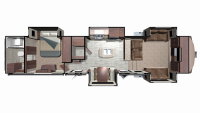 2019 Mesa Ridge MF370RBS Floor Plan