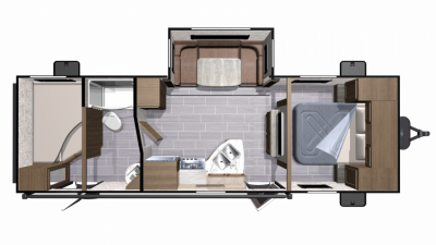 2019 Mesa Ridge Lite MR2510BH Floor Plan Img