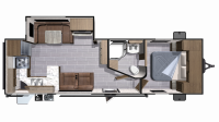 2019 Mesa Ridge Lite MR2804RK Floor Plan