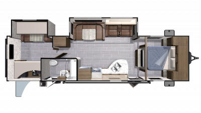 2019 Mesa Ridge Lite MR3110BH Floor Plan Img