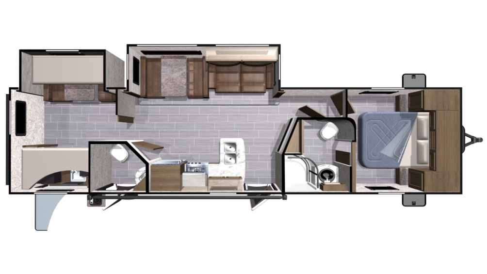 2018 Mesa Ridge Lite MR3310BH Floor Plan Img