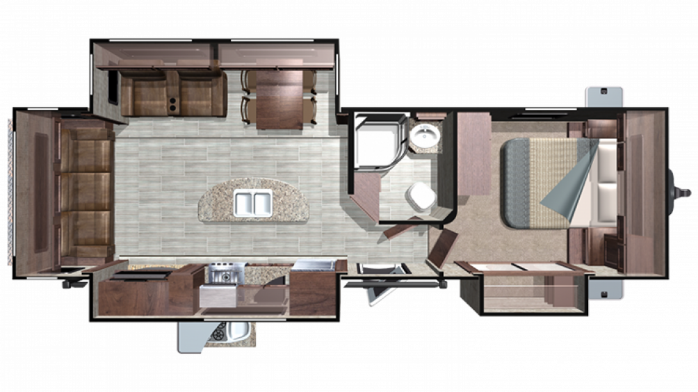 2019 Mesa Ridge MR292RLS Floor Plan Img