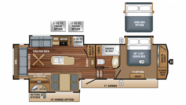 2018 Eagle 317RLOK Floor Plan