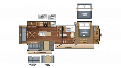 2018 Eagle 321RSTS Floor Plan